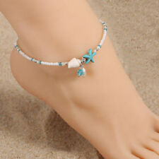 Boho Starfish Shell Conch Anklet  Bracelet Chain Barefoot Sandal Beach Jewelry