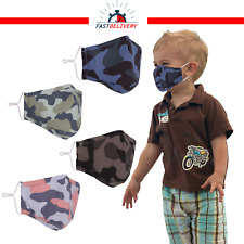 Reusable Face Mask with 2 Filters Cotton Adults Kids Unisex Washable Breathable