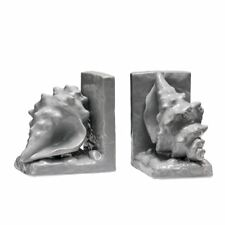 Conch Bookends, Grey Dolomite, Set of 2