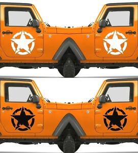 Set of 2 America US U.S Army Distressed Star Vinyl Decal Sticker Dodge & Ram V10