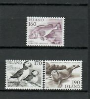 s34040 ISLAND ICELAND ISLANDA MNH 1980 Definitives animals 3v