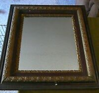 1800'S VINTAGE CARVED WOODEN MIRROR ORNATE & BEAUTIFUL 29 3/4 WIDE,25 1/2 TALL