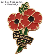 2020 Pin Badge Poppy Flower