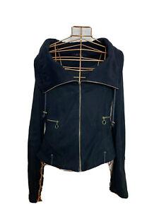 Zara Basic Ladies Jacket Size S Black Cotton Please See Description