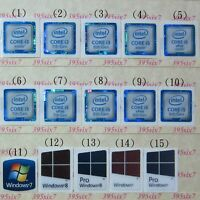 intel Core i3 i5 Sticker 6th 7th 8th 9th Gen + OS sticker ( 2 pcs per lot )