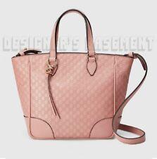GUCCI pink MICRO GUCCISSIMA convertible Small BREE tote crossbody bag NWT Authen