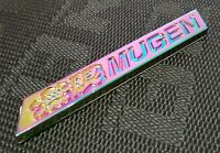 3D MUGEN Car Trunk Spoiler Lip Emblem Badge Sticker Decal Aluminum Neo-Chrome