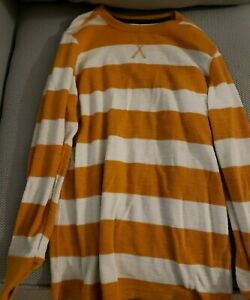 Arizona  Boys 10-12 Thermal Long Sleeve Striped Top