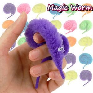30Pcs Magic Vivid Worm Wiggly Twisty Worm Favors Xmas Toys for Kids Children