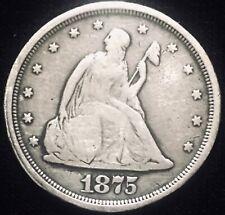 1875-S Seated Liberty Twenty Cent 20c • Silver
