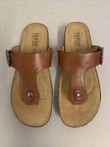 Hotter Comfort Concept Tan Leather Sandal Size UK 6 BNIB #522