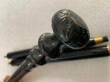 Walking Stick Vintage Style Engraved Brass Handle Victorian Cane Handmade Gift