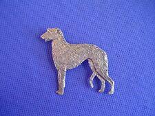 Scottish Deerhound Standing Pin #16B Pewter Hound Dog Jewelry by Cindy A. Conter