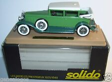 AGE D'OR SOLIDO CADILLAC 452 A V16 1931 IMPERIAL LANDAULET VERTE 1/43 IN BOX bis
