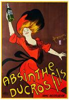 VINTAGE BAR POSTER - ABSINTHE DUCROS FILS by Leonetto Cappiello Liquor Art Print