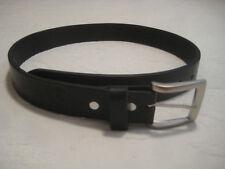 Leather Belt - Vaquero style Plain (#BLT-04) Black
