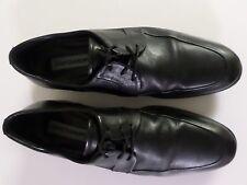 Johnston & Murphy Size 8.5 M Men's Solid Black Leather Moc-Toe Oxford 15-2351