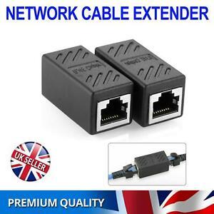 RJ45 Inline Extender Coupler Cat6 Cat5e Ethernet Network Cable Adapter Joiner UK