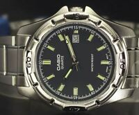 GENUINE AND NEW Casio Men's Classic Watch MTP-1244D-8A with BLACK DIAL FACE