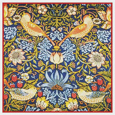 William Morris Strawberry Thief Counted Cross Stitch Chart Pattern