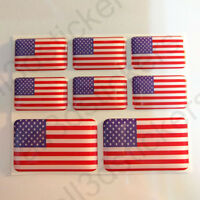 Sticker United States USA Resin Domed Stickers Flag 3D Vinyl Adhesive Decal Car