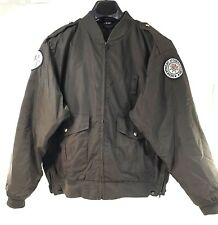 Bauer Men Florida Department Of Corrections Jacket L Brown Zip-Out Lining Nylon