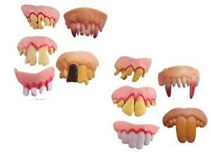 5pcs Set Halloween Party Fancy Rubber Joke Teeth Defects April Fool Fake Costume