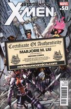 Astonishing X-Men #50 SIGNED by Marjorie Liu COA from Midtown NM 1st print