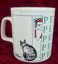Kliban Kilban Coffee Mug Cat Santa Christmas Peace KilnCraft England