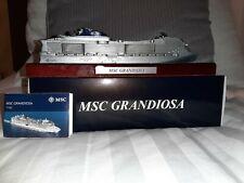 MSC GRANDIOSA Cruise Ship Model. Modellino Nave. Kreuzfharten Schiff