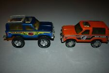Vintage Nylint Canoe Country Bronco Ii & Bass Chaser Pressed Steel Trucks
