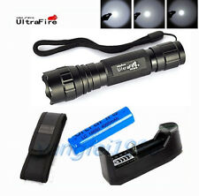 UltraFire WF-501B 2000Lm CREE XM-L T6 LED Flashlight Torch+18650 Battery Charger
