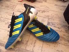 Rare Electric Blue Adidas Predator Mundial Nova Football Boots Uk Size 10