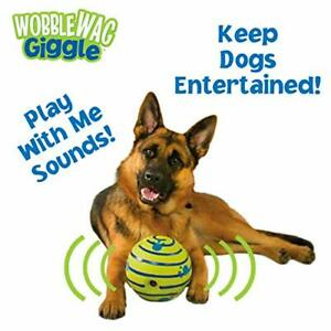 Fun for Large dog Wobble Giggle Ball Sounds & Rolling Interactive pet Toy Play