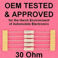 30 ohm 2 Watt 5% Wirewound Power Resistor OEM Approved Axial Lead WW Lot of 5