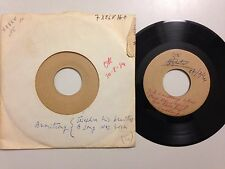 LOT RARE DISQUE 45T TEST PRESSING LOUIS ARMSTRONG