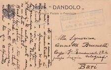 A8946) WW1 MARINA FRANCHIGIA DELLA REGIA NAVE DANDOLO.