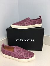 Coach Primrose Leather Slip On Sneakers Size 9.5M