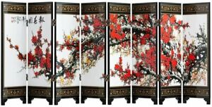 TJ Global 8-Panel Traditional Chinese Art for Home Decoration - Decorative...