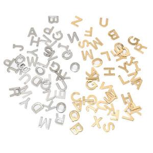 100pcs Random Stainless Steel A-Z Letter Gold Charms Alphabet Pendant for Making