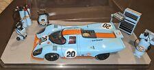 """RARE AUTOART 1:18 STEVE McQUEEN """"LEMANS"""" PORSCHE 917K GULF RACING DIORAMA"""