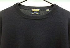 Coach Men's Dark Blue 100% Cashmere Crewneck Sweater Size Large