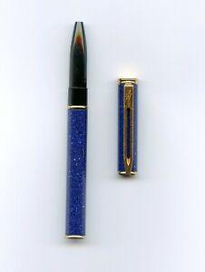NOS Waterman Laureat Lapis Lazuli Blue Lacquer Rollerball Pen Cap & Barrel Parts