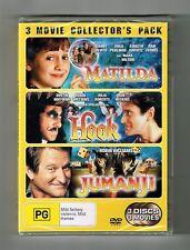 Matilda / Hook / Jumanji Dvd (3-Movie Collection) 3-Disc Set Brand New & Sealed
