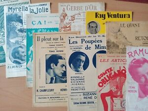 PARTITIONS ANCIENNES, CHANSONS FRANCAISES ANNEES 40-50-60