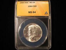 1964 Kennedy Half Dollar Graded ANACS MS64