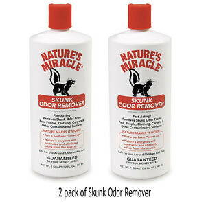 Skunk Odor Remover Free Shipping 2PACK  New Formula