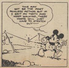 Mickey Mouse Daily Strip - Feb 23, 1931 - VERY RARE Early Floyd Gottfredson art