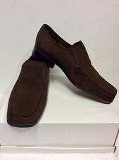 BRAND NEW RACING GREEN BROWN SUEDE SLIP ON LOAFER SHOES SIZE 8/42