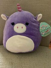 Kellytoy Squishmallow 8 Inch Astrid the Purple Unicorn Super Soft Plush Toy Rare